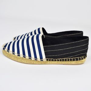 (MARC JACOBS) Striped Sienna Espadrille Flats